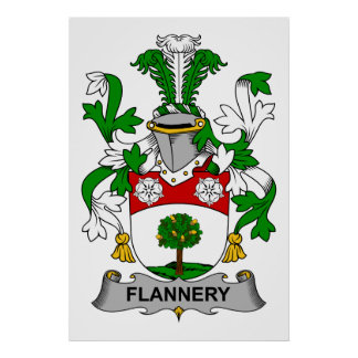 Flannery Family Crest Poster