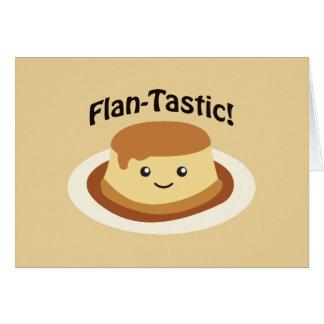 Flantastic! Cute flan Card