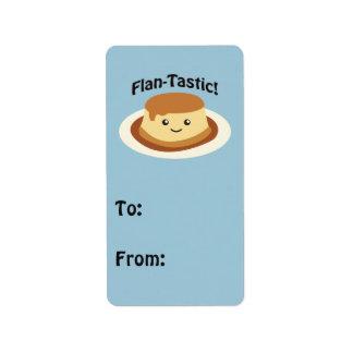 Flantastic! Cute flan Label