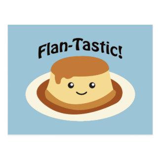 Flantastic! Cute flan Postcard
