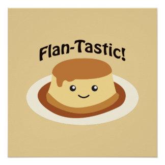 Flantastic! Cute flan Poster