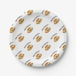 Paper Plates with Mustache Phone Cases design