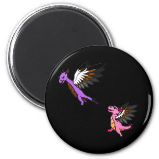 Flap and Fletch 2 Inch Round Magnet
