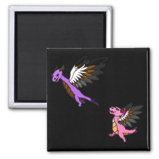 Flap and Fletch 2 Inch Square Magnet