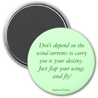 Flap our wings and fly 3 inch round magnet