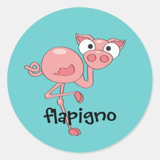 Flapigno Classic Round Sticker