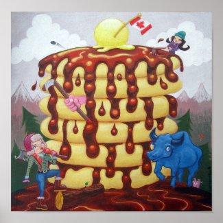 Flapjack Lumberjacks print