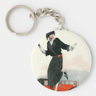 Flapper and Roadster Key Chain