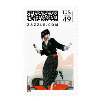 Flapper and Roadster Stamp