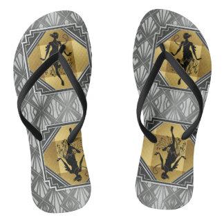Flapper Art Deco Gatsby Flip Flops