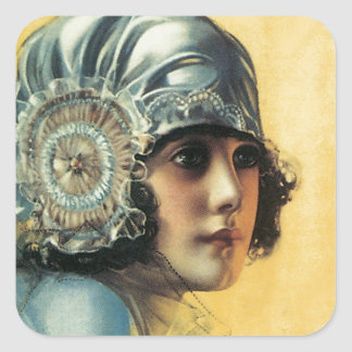 Flapper Beauty Square Stickers