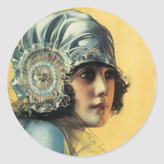 Flapper Beauty Classic Round Sticker