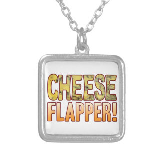 Flapper Blue Cheese Silver Plated Necklace