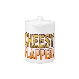 Flapper Blue Cheesy Teapot