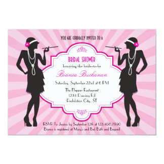Flapper Bridal Shower Invitation