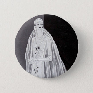 Flapper Bride Button