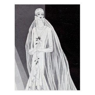 Flapper Bride Postcard