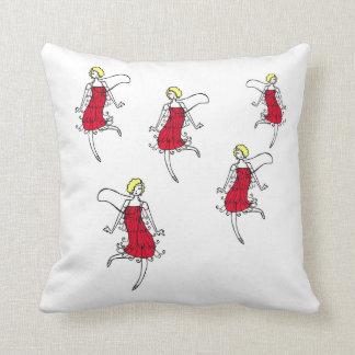 Flapper Brigade Throw Pillow