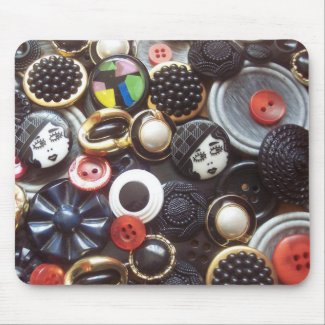 Flapper Button Collage mousepad