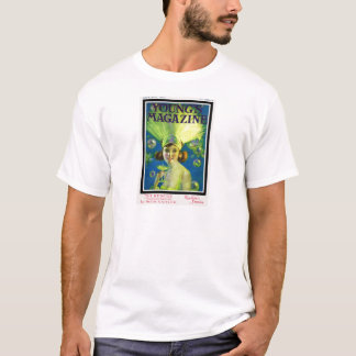Flapper Champagne & Bubbles Antique Magazine Cover T-Shirt
