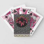Flapper Chic (Monogrammed Playing Cards) Bicycle Playing Cards