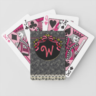 Flapper Chic (Monogrammed Playing Cards)