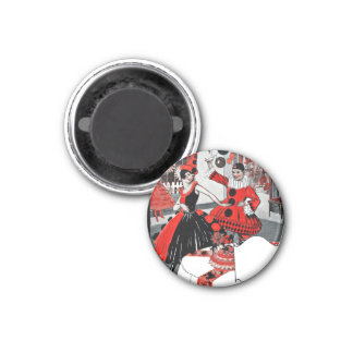 Flapper Costume Party Refrigerator Magnets