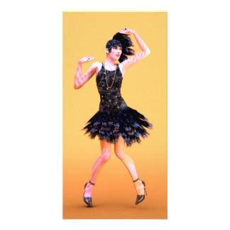Flapper Dancing Card