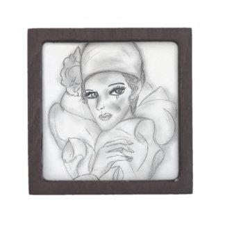 Flapper Doll Keepsake Box