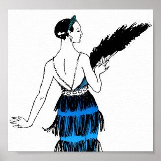 Flapper Dress With Fringe Poster