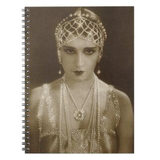 Flapper Film Actress 1920's Notebook Journal