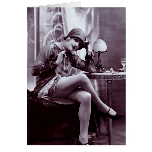 Flapper Gal Greeting Card
