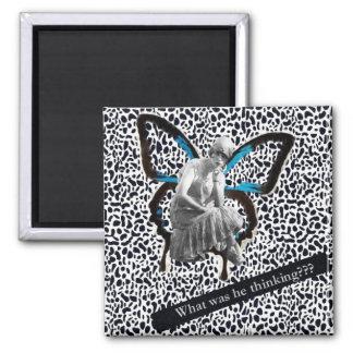 Flapper Girl - Altered Art Magnet