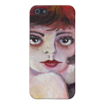 iphone, flapper, vintage, girls., flapper girls, watercolors, artful, artsy, artistic, design, ginette, faces, eyes, [[missing key: type_photousa_iphonecas]] com design gráfico personalizado