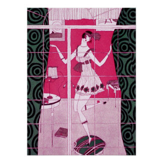 Flapper Girl Dancing Poster