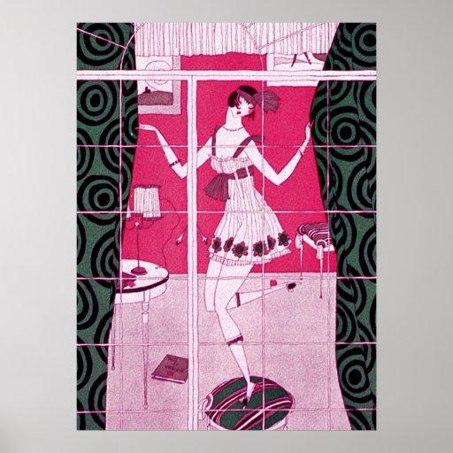 Flapper Girl Dancing Poster