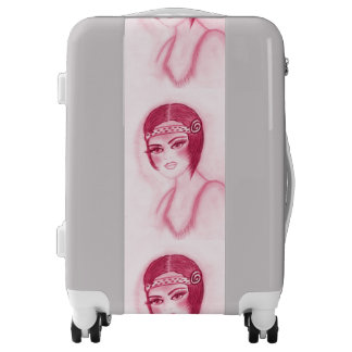 Flapper Girl In Red Luggage