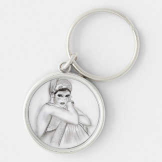 Flapper Girl Keychain