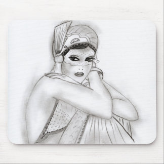 Flapper Girl Mouse Pad
