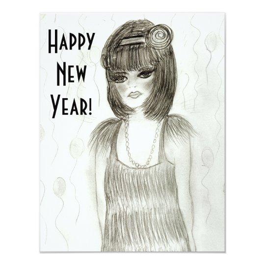 Flapper Girl New Year Invites
