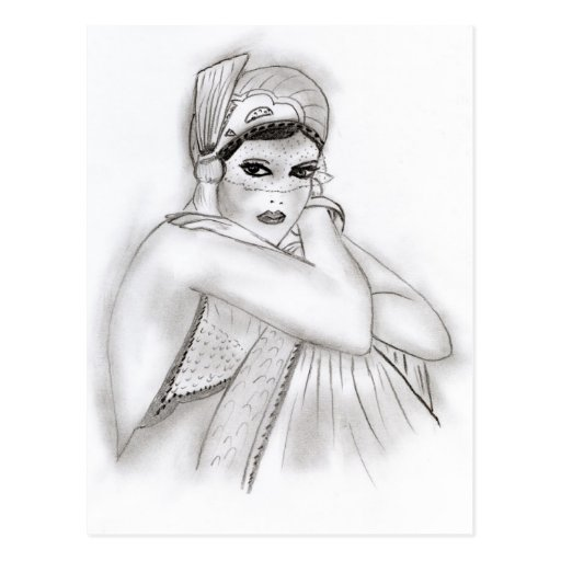 Flapper Girl Postcard