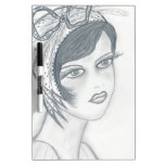 Flapper Girl with Bow Dry-Erase Board