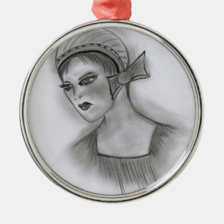 Flapper Girl With Bow Ornament