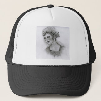 Flapper Girl With Bow Trucker Hat