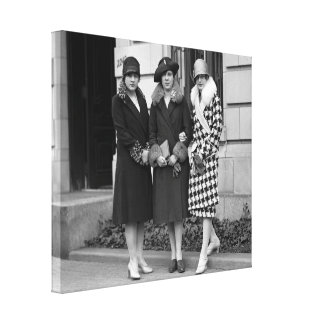Flapper Girls, Cloche Hats 1920s Stretched Canvas Prints
