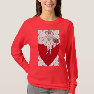 Flapper, Heart and Doily Vintage Valentine T-Shirt
