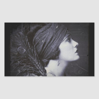 Flapper in a Feathered Turban Sticker