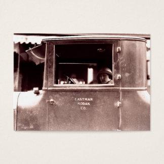 Flapper in a Tin Lizzie Roaring Twenties Business Card