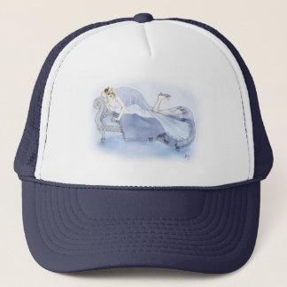 Flapper in Blue Trucker Hat