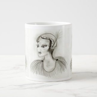 Flapper in Feathers Large Coffee Mug